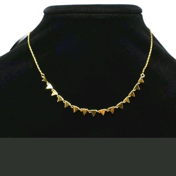 REBECCA MINKOFF GOLD TRIANGLE NECKLACE